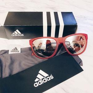 ADIDAS Matte Red Sports Sunglasses - NWT ‼️